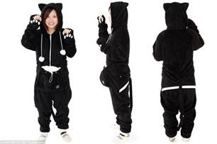 cat onesie japanese company offers cat onesies for the perrfect