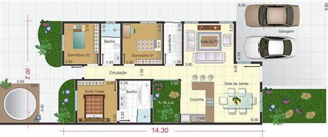 Os X Home Design : Planta De Casa Térrea Com Garagem Ampla