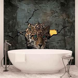 Poster Mural 3d : leopard 3d poster mural papier peint acheter le sur ~ Teatrodelosmanantiales.com Idées de Décoration