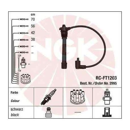 Cavi Candele Ngk by Kit Cavi Candele Ngk Rc Ft1203 2995 Roll Garage