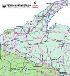 Upper Peninsula Michigan Snowmobile Trail Map