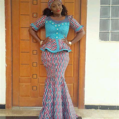 ankara styles  big ladies ankara long gown
