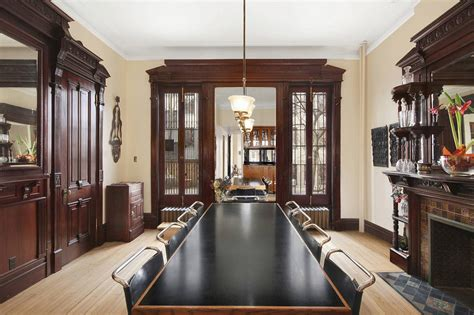 stunning mahogany woodwork steals the show in this picture