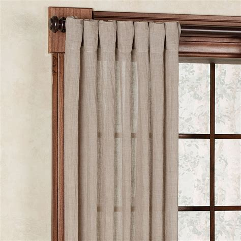 chambray semi sheer back tab curtain panels