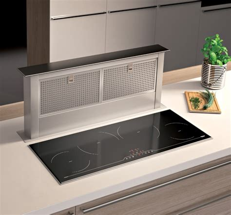 hotte de cuisine stainless airforce integra dd 4 stainless steel and black glass