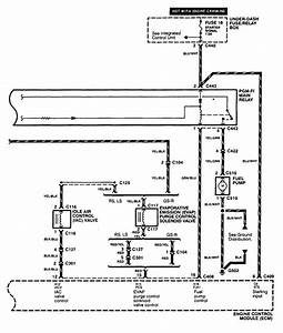 Acura Integra  1998 - 1999  - Wiring Diagrams - Fuel Pump