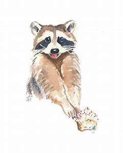 Original Raccoon Watercolor Painting Raccoon by ...