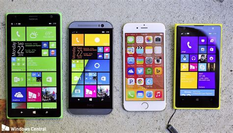windows phone vs iphone comparing the iphone 6 to the top windows phones