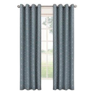 Curtain Grommet Kit Home Depot by Eclipse Tipton Trellis Blackout River Blue Polyester