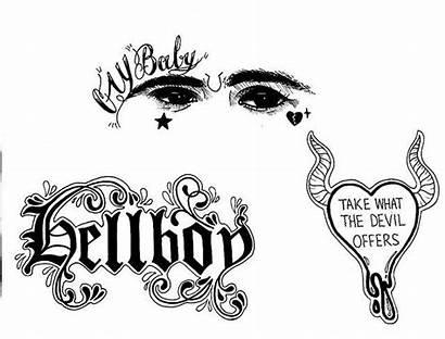 Peep Lil Tattoos Tattoo Sad Designs Face