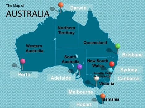 map  australia template