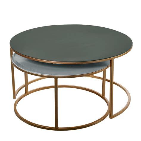 table basse gigogne set table basse gigogne amalia de pols potten vert fonc 233