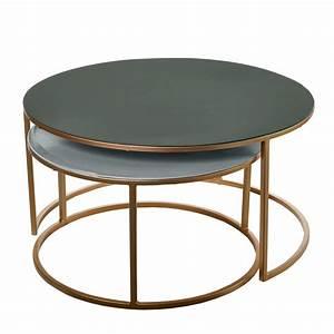 Table Salon Alinea : set table basse gigogne amalia de pols potten 2 coloris ~ Teatrodelosmanantiales.com Idées de Décoration