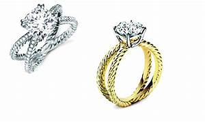 stunning engagement rings with crossover bands yellow With david yurman wedding ring