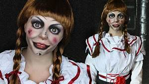 Halloween Make Up Puppe : creepy doll makeup tutorial annabelle the conjuring youtube ~ Frokenaadalensverden.com Haus und Dekorationen