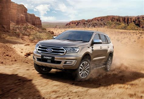 ford endeavour everest facelift revealed toyota