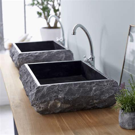 vasques marbre scrula slim black vasque coloris noir sur tikamoon