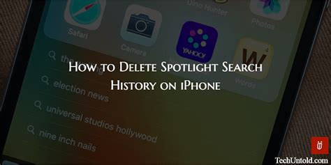 how to delete history from iphone how to clear spotlight search history on iphone in ios 10