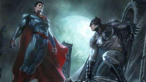 superman  batman dc comics superheroes artwork full hd