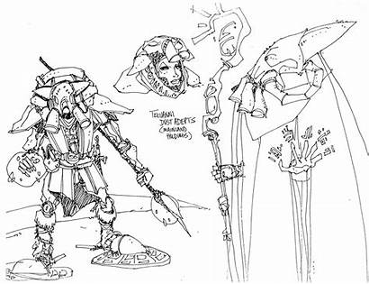 Telvanni Skyrim Kirkbride Michael Morrowind Concept Drawing