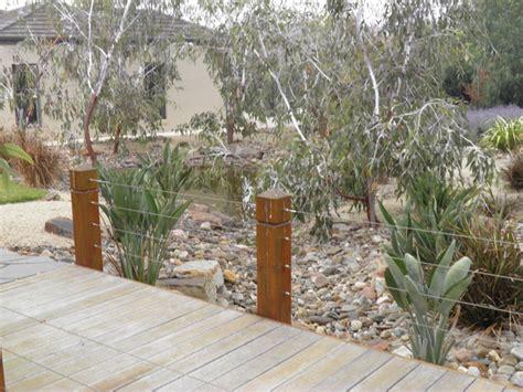 creek bed water wise garden contemporary landscape