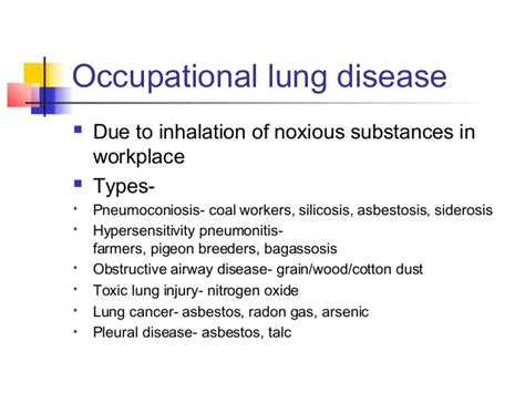 interstitial  occupational lung disease