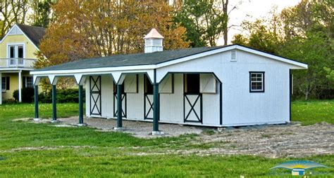 shedrow horse barns horizon structures