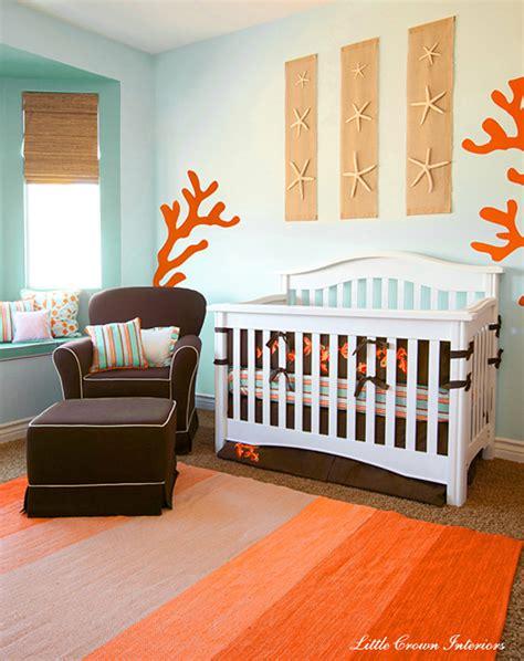 organiser chambre bébé décoration chambre bébé orange
