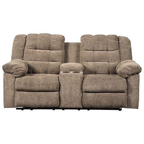 reclining loveseat with console cup holders winfred casual reclining loveseat w console 2