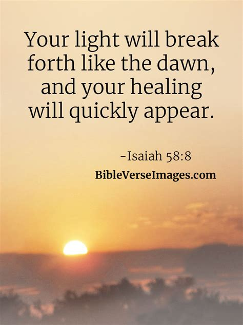 In this passage from mark 10 we find one of the many miracles of healing that jesus performed: Bible Verse about Healing - Isaiah 58:8 - Bible Verse Images