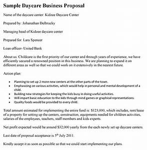 Daycare business proposal template for Daycare business proposal letter