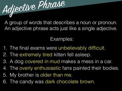 grammar opening adjectives adverbs
