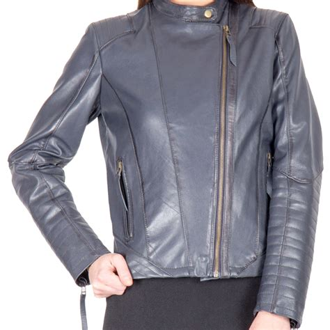 light blue leather jacket womens a light blue color fashion leather jacket for women