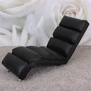 Chaise Longue Confortable : fauteuil chaise longue cuir lounge noir fautrel lgen vdxd vente de meubles et d 39 articles de ~ Teatrodelosmanantiales.com Idées de Décoration
