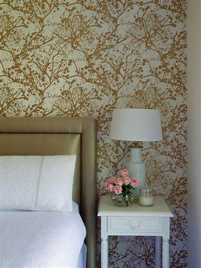 Gold Headboard Bedroom Metallic Contemporary Hgtv Graphic