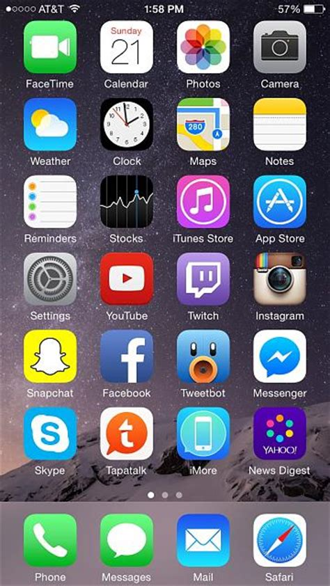iphone home screen layout iphone 6 home screen layout www pixshark images
