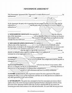 noncompete agreement With business templates noncompete agreement