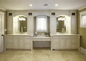 built in vanity cabinets for bathrooms With built in bathroom storage vanities