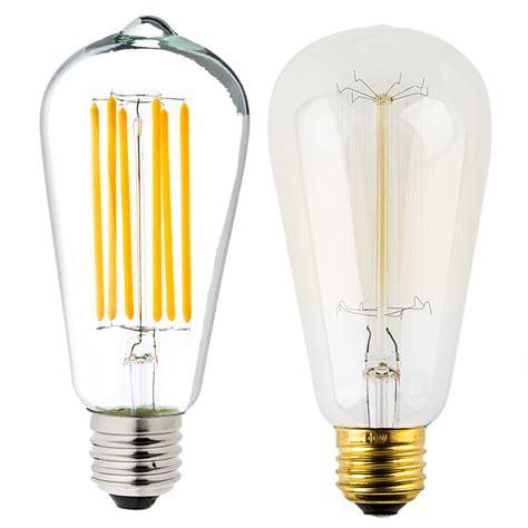 vintage led light bulbs st18 led filament bulb 40 watt equivalent vintage light 6842