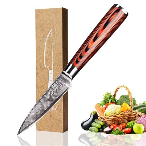 premium kitchen knives sunnecko premium 3 5 quot paring knife damascus steel japanese