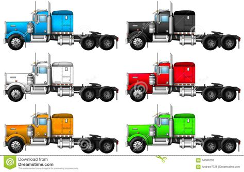 Image Of Truck Kenworth W900. Stock Photo - Image: 64086230