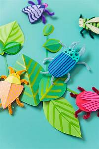 diy paper bug kid craft tell and