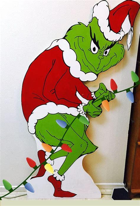grinch christmas lights ideas  pinterest