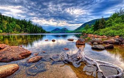 Lake Landscapes Ultra Root Snag Stones Wallpapers13