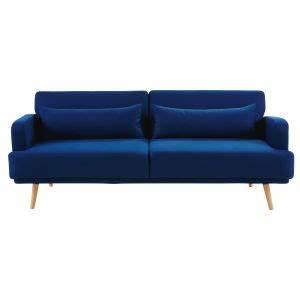 Canapé Bleu Roi : canap lit 3 places bleu roi maisons du monde ~ Teatrodelosmanantiales.com Idées de Décoration