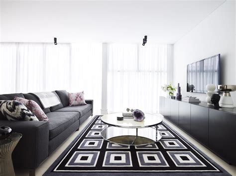 Living Room Designs Grey And Black by Modern Black Grey And White Interiors By Color