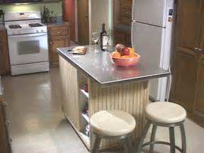 kitchen island with stainless top 8 diy kitchen islands for every budget and ability blissfully domestic