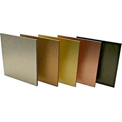 brushed aluminium dibond composite sheet alupanel sign material butler finish ebay