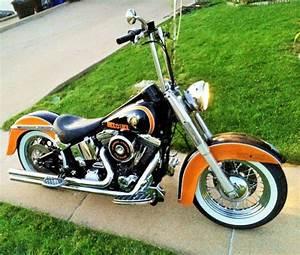 Harley Davidson Flstc  Highly Custom Softail Chromed Parts