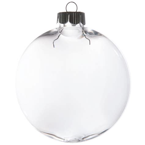 clear oval ball ornament 83mm 2610 63 craftoutlet com
